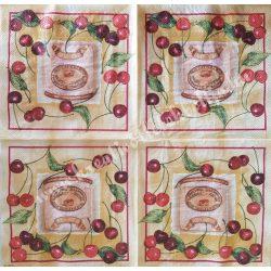Szalvéta, gyümölcs, cseresznye, 33x33 cm (15)