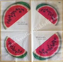 Szalvéta, gyümölcsök, dinnye, 32x32 cm, 1 darab