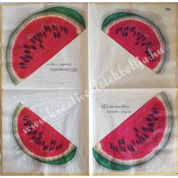 Szalvéta, gyümölcs, dinnye, 32x32 cm, 1 darab