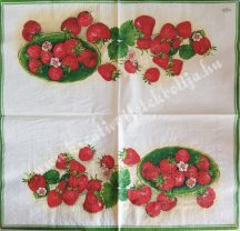 Szalvéta, gyümölcsök, eper, 32x32 cm, 1 darab