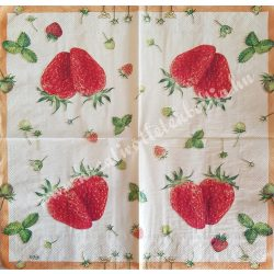 Szalvéta, gyümölcs, eper, 33x33 cm (3)