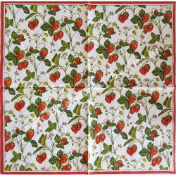 Szalvéta, gyümölcs, eper, 33x33 cm (5)