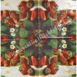 Szalvéta, gyümölcs, eper, 33x33 cm (6)