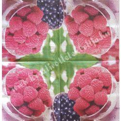 Szalvéta, gyümölcs, málna, 33x33 cm (8)