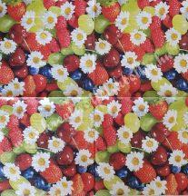 Szalvéta, gyümölcsök, vegyes, 32x32 cm, 1 darab
