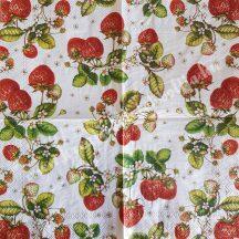 Szalvéta, gyümölcsök, eper, 25x25 cm, 1 darab