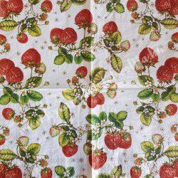 Szalvéta, gyümölcs, eper, 25x25 cm, 1 darab