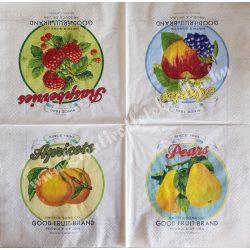 Szalvéta, négy gyümölcs, 32x32 cm, 1 darab