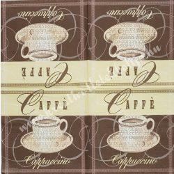 Szalvéta, kávé és tea, kávé, 32x32 cm, 1 darab