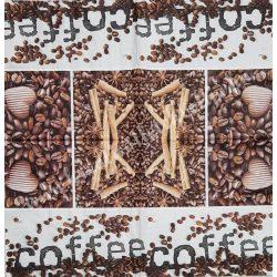 Szalvéta, kávé és tea, kávészemek, 32x32 cm, 1 darab