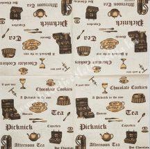 Szalvéta, kávé és tea, 32x32 cm, 1 darab