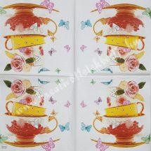 Szalvéta, kávé és tea, tea, 32x32 cm, 1 darab