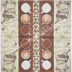 Szalvéta, kávé, tea, 33x33 cm (18)