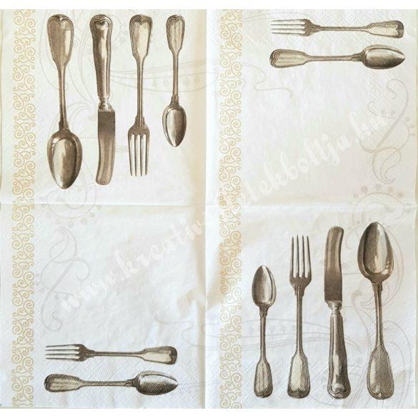 Szalvéta, konyha, evőeszköz, 33x33 cm (1)