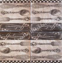 Szalvéta, konyha, evőeszköz, 32x32 cm, 1 darab