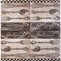 Szalvéta, konyha, evőeszköz, 33x33 cm (3)
