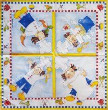 Szalvéta, konyha, szakácsnő, 32x32 cm, 1 darab