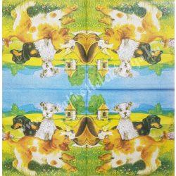 Szalvéta, kutya, macska 20., 33x33 cm