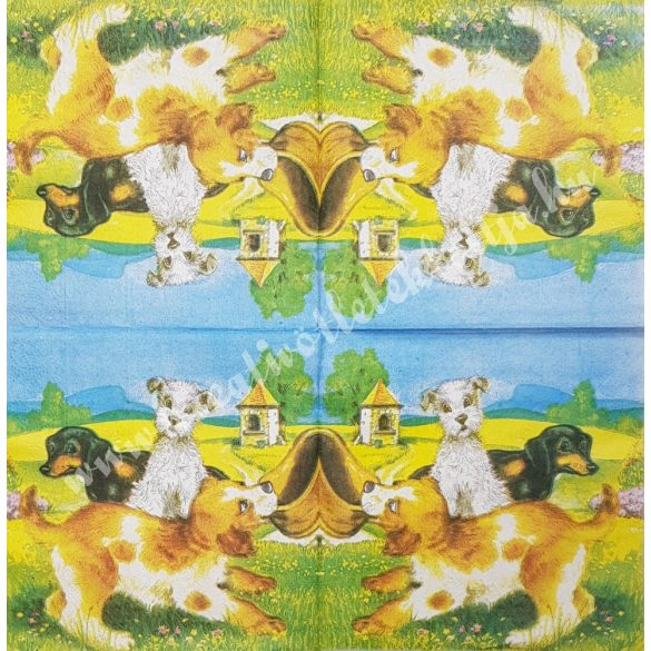 Szalvéta, kutya, macska, 33x33 cm (20)