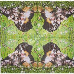 Szalvéta, kutya, macska, 33x33 cm (25)