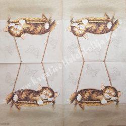 Szalvéta, kutya, macska 33x33cm (5)