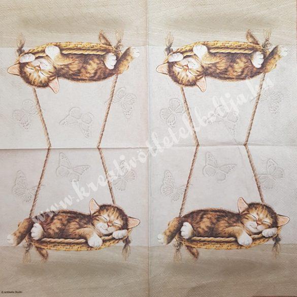 Szalvéta, kutya, macska 5., 33x33 cm