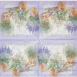Szalvéta, levendula 1., 33x33 cm