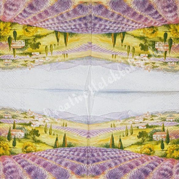 Szalvéta, levendulamező, 25x25 cm (2)