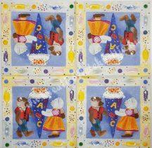 Szalvéta, mackó, 32x32 cm, 1 darab