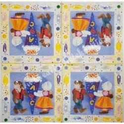 Szalvéta, mackó, 33x33 cm (10)