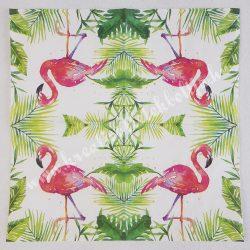 Szalvéta, madarak 1., flamingó, 25x25 cm