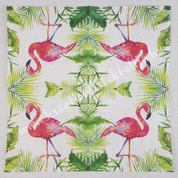 Szalvéta, madarak, flamingó, 25x25 cm (1)