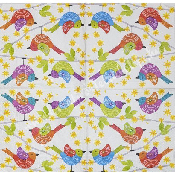 Szalvéta, madarak, 33x33 cm (10)