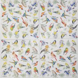 Szalvéta, madarak 18., 33x33 cm
