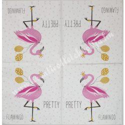 Szalvéta, madarak, flamingó, 33x33 cm (22)