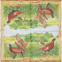 Szalvéta, madarak 24., 25x25 cm