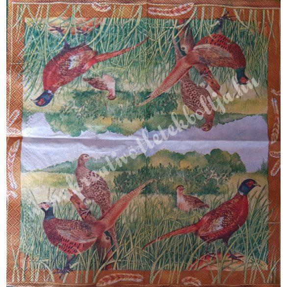 Szalvéta, madarak, 25x25 cm (3)
