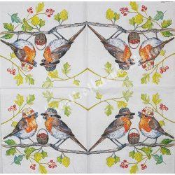 Szalvéta, madarak 34., 33x33 cm