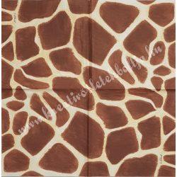 Szalvéta, mintás, zsiráf, 25x25 cm, 1 darab
