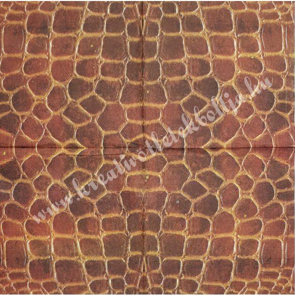 Szalvéta, mintás, pikkely, 33x33 cm (6)