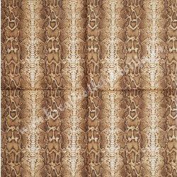 Szalvéta, mintás, hüllő, 32x32 cm, 1 darab
