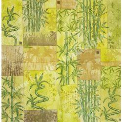 Szalvéta, örökzöldek, bambusz, 32x32 cm, 1 darab