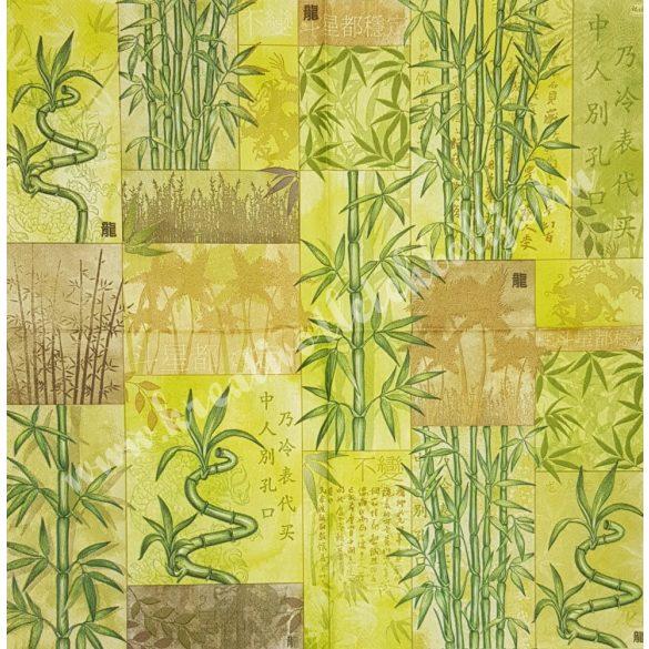 Szalvéta, örökzöldek, bambusz, 33x33 cm (6)
