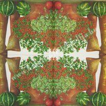 Szalvéta, örökzöldek, borostyán, 32x32 cm, 1 darab