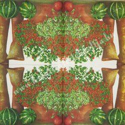 Szalvéta, örökzöldek, borostyán, 33x33 cm (7)
