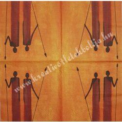 Szalvéta, országok, Afrika, 33x33 cm (1)