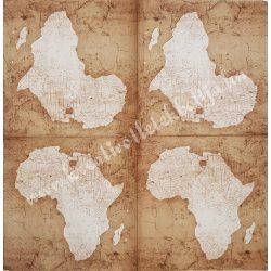 Szalvéta, országok, Afrika, 33x33 cm (10)