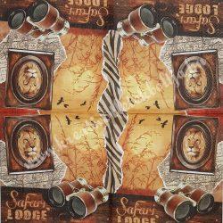 Szalvéta, országok, Afrika, 33x33 cm (11)