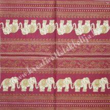 Szalvéta, országok, India, 32x32 cm, 1 darab