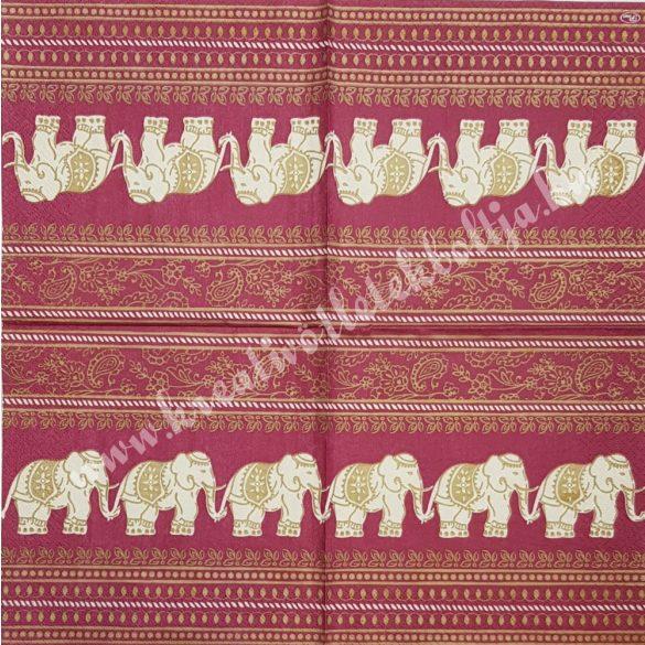 Szalvéta, országok, India, 33x33 cm (14)